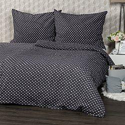4Home Krepové obliečky Sivá bodka, 160 x 200 cm, 70 x 80 cm