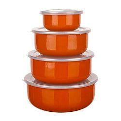 8-dielna smaltovaná sada misiek Belly, oranžová,
