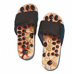 Akupresúrne masážne papuče s prírodnými kameňmi veľ. M, SJH 314B, 39 - 41