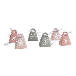 Altom Sada kovových vianočných ozdôb Bells, 6 ks