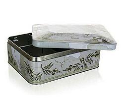 Banquet BANQUET Plechovka / box na čaj OLIVES 20 x 15,5 x 8 cm