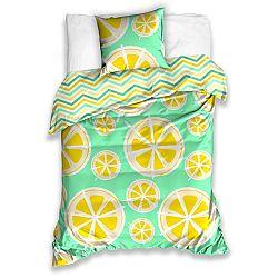 BedTex Bavlnené obliečky Citróny, 140 x 200 cm, 70 x 90 cm