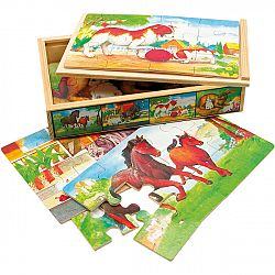 Bino Puzzle v krabičke Zvieratká