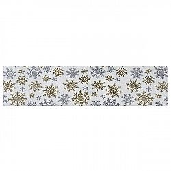 Dakls Behúň Snowflakes biela, 33 x 140 cm