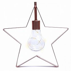 DecoKing Vianočná lampa Hviezdička teplá biela, 5 LED