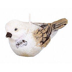 Dekoratívna sviečka vtáčik, béžová