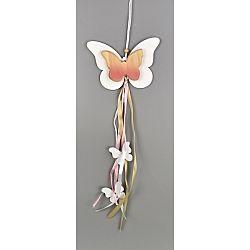 Drevená závesná dekorácia Motýliky, 50 cm