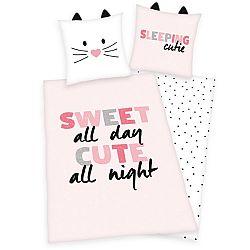 Herding Detské bavlnené obliečky Sleeping Cutie, 140 x 200 cm, 70 x 90 cm