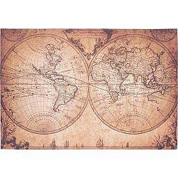 Hladko Tkaný Koberec World Map