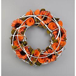 Jesenný ratanový veniec Abi, 24 cm
