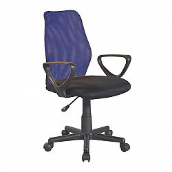 Kancelárska stolička, modrá/čierna, BST 2010 NEW