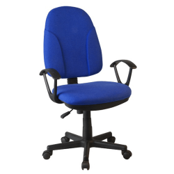Kancelárska stolička, modrá látka, DEVRI