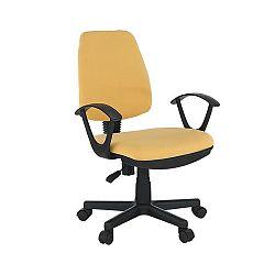 Kancelárska stolička, žltá, COLBY