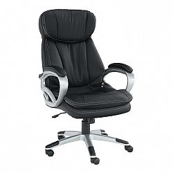 Kancelárske kreslo, čierna ekokoža, ROTAR
