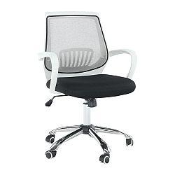 Kancelárske kreslo, čierna/sivá, LANCELOT