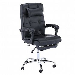 Kancelárske kreslo, ekokoža čierna, ARNAUD