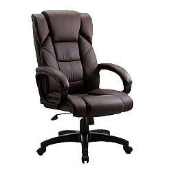 Kancelárske kreslo, hnedá ekokoža, SIEMO NEW