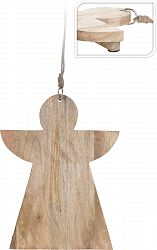 Koopman Drevená doštička Anjel, 36 cm