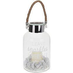 Koopman Lampáš s LED sviečkou Leave sparkles whenewer you go, 30 cm