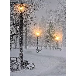 Koopman LED Obraz na plátne Pontivy, 40 x 30 cm