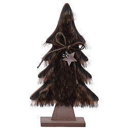 Koopman Vianočná dekorácia Hairy tree tmavohnedá, 41 cm
