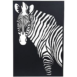 Koopman Závesná kovová dekorácia Zebra čierna, 30 x 40 cm