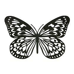 Kovová dekorácia na stenu Motýľ, čierna