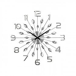 Lavvu LCT1190 Nástenné hodiny Crystal Sun 49 cm, strieborná