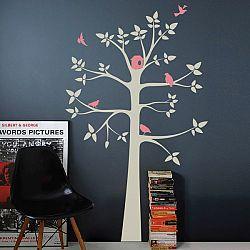 Samolepiaca dekorácia Sivý pastelový strom