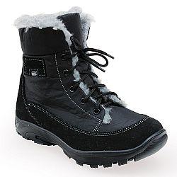 Santé dámská zimná obuv s kožušinkou čierna