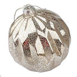Vianočná svietiaca ozdoba Lucera, strieborná