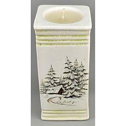 Vianočný svietnik Naple so sviečkou, 15 cm